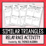 Similar Triangles Relay Races