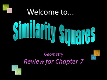Similar Triangles Review (Similarity Squares)