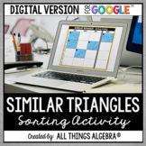Similar Triangles (SSS~, SAS~, and AA~) Sorting Activity -