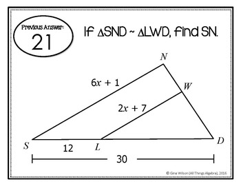 Similar Triangles Scavenger Hunt