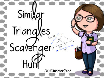 Similar Triangles Scavenger Hunt (Walkabout)
