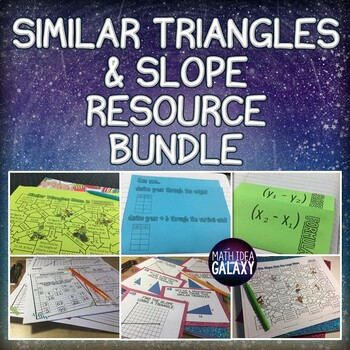Similar Triangles, Slope, and Proportional Relationships Activity Pack