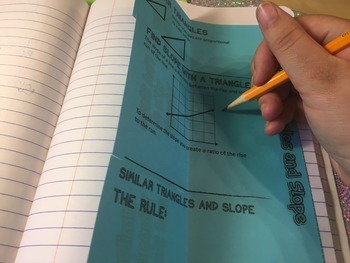 Similar Triangles, Slope, and Proportional Relationships Foldable Notes