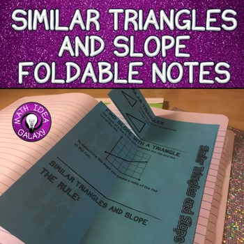 Similar Triangles, Slope, and Proportional Relationships F