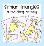 Similar Triangles Matching Activity & More