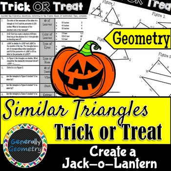 Similar Triangles Trick or Treat Glyph-Type Activity; Geometry