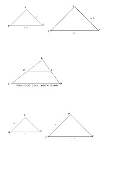 Similar Triangles Unit Plan (Geometry)- Includes Review Sheet and Test