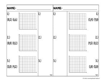 Similar Triangles Using Slope Matching Partner Activity {8.EE.B6}