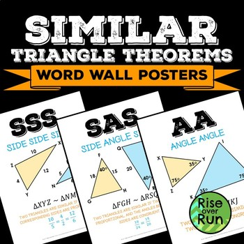 Similar Triangles Word Wall Posters, Free