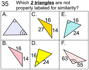 Similar Triangles with Trig, 7 Assignments for SMART, Socrative and Response