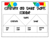 Similar and Congruent Figures Foldable