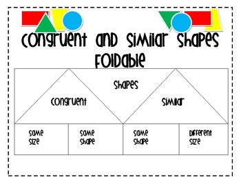 Similar And Congruent Figures Worksheet: similar and congruent figures foldable by elizabeth jones tpt,