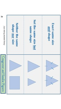Similar and Congruent Figures Foldable/Notes