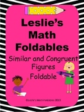 Similar and Congruent Figures Math Foldable