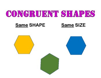 Similar and Congruent Shape Posters