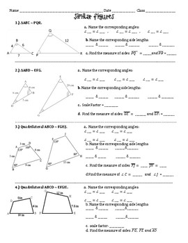Similar figures Practice Worksheet