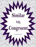 Similar vs. Congruent