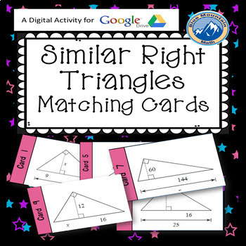Similarily in Right Triangles Matching Card Google Activity Plus Quiz