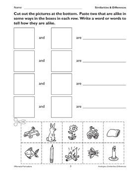 Similarities & Differences: Primary Thinking Skills