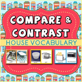 Compare and Contrast: House Vocabulary Cards