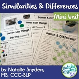 Similarities and Differences Mini Unit for SLPs
