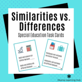 Similarities and Differences Task Cards (Special Ed / Speech)