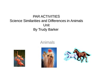Similarities and Differences in Animals