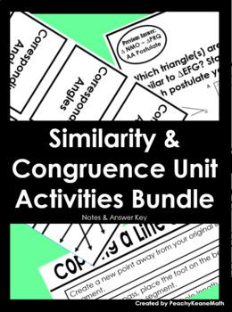 Similarity & Congruence Activities BUNDLE