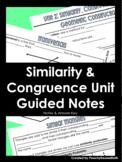 Similarity & Congruence Guided Notes BUNDLE