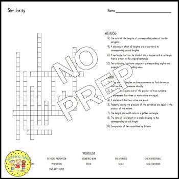 Similarity Crossword Puzzle