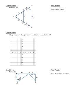 Similarity & Dilation Crossword Review