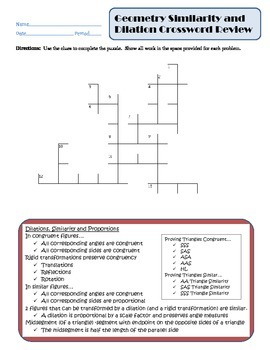 similarity and dilation teaching resources teachers pay teachers rh teacherspayteachers com Study Guide and Intervention Answers Solving Two-Step Equations Study Guide and Intervention Answer Key