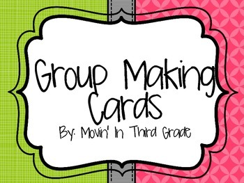 Similarity Grouping and Team Building Cards