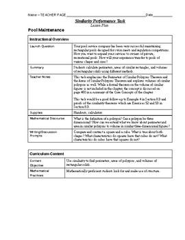 Similarity Performance Task - Alternative Assessment