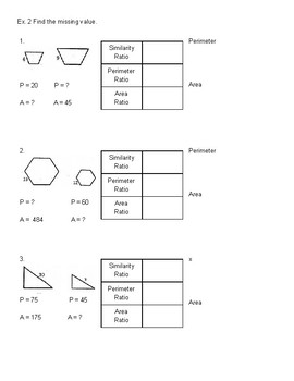 Similarity, Perimeter, and Area Ratios