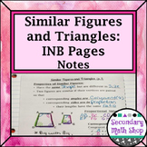 Similar Figures & Triangles Properties Interactive Notebook Pgs