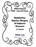 Similarity, Similar Shapes, and Indirect Measurement INB TEKS 7.5A