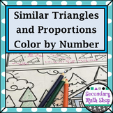 Similarity - Similar Triangles and Proportions Color-By-Number Worksheet