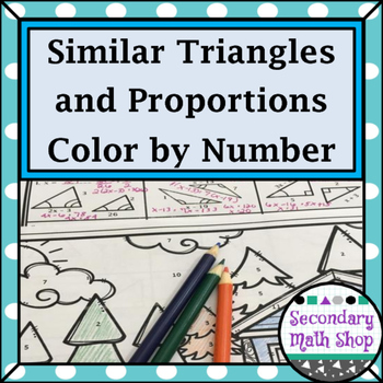 Similarity Similar Triangles And Proportions Color By Number Worksheet