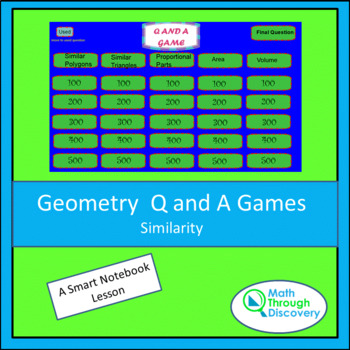 Geometry: Smartboard Q and A Game - Similarity