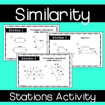 Similarity Stations Activity