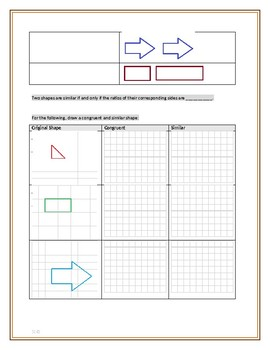 Similarity and Congruence Guided Notes