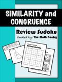 Similarity and Congruence - Review Sudoku