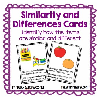 Similarities And Differences Teaching Resources Teachers Pay Teachers