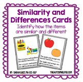 Similarity and Differences Task Cards