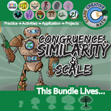 Congruence, Similarity & Scale -- Geometry Curriculum -- Essential Unit Bundle