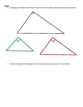 Similarity in Right Triangles Discovery Lesson