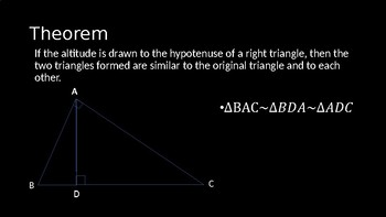 Similarity in Right Triangles - PowerPoint Lesson (7.2)