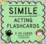 Figurative Language Acting Activity Flash Cards: Similes