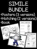 Simile Bundle- Matching, Posters, Book; Figurative Language